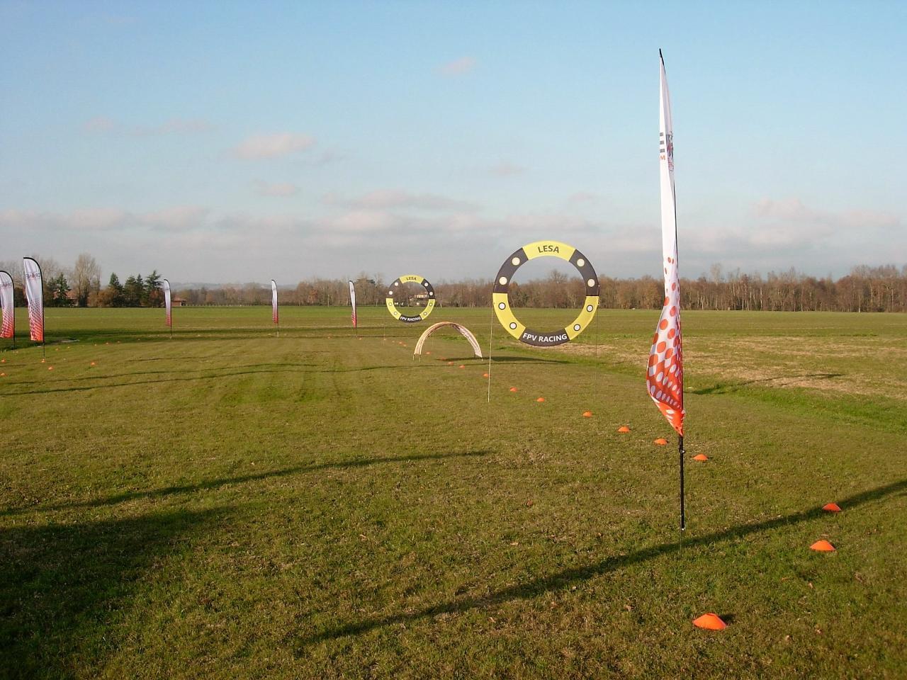 Mise en place pour essai du circuit drones FPV Racer (Fred)